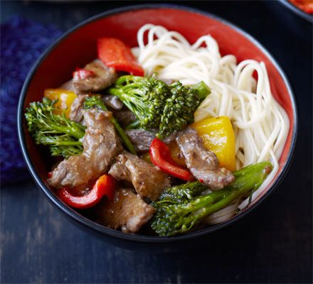 Chilli beef with broccoli & oyster sauce. Marinate a cheaper cut like rump steak to tenderise the meat then stir fry with vegetables and rich Chinese flavours