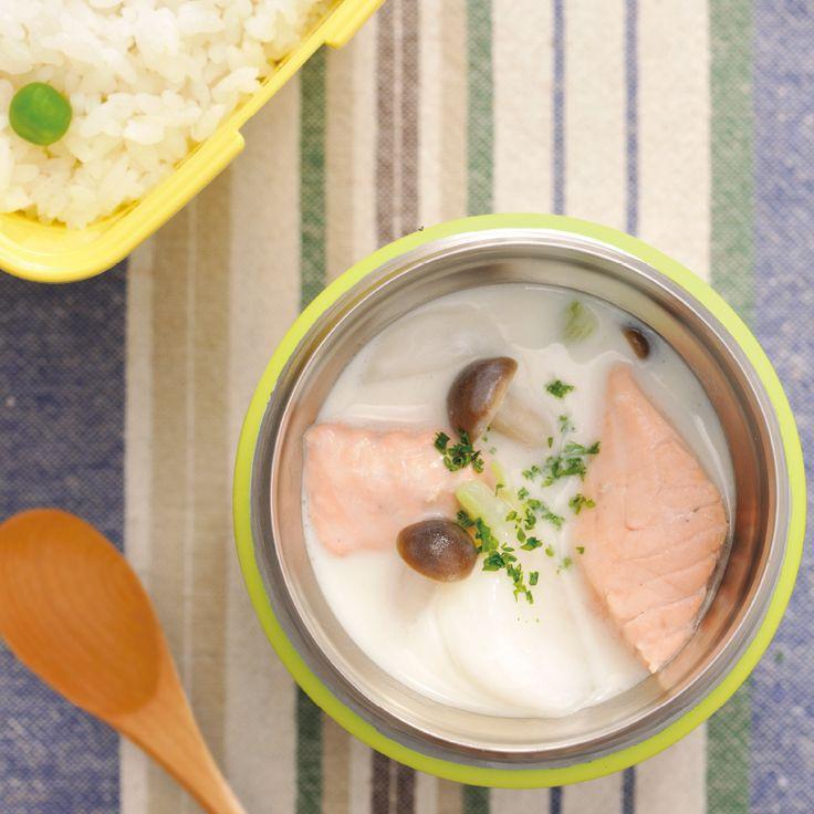 鮭とかぶのミルクシチュー