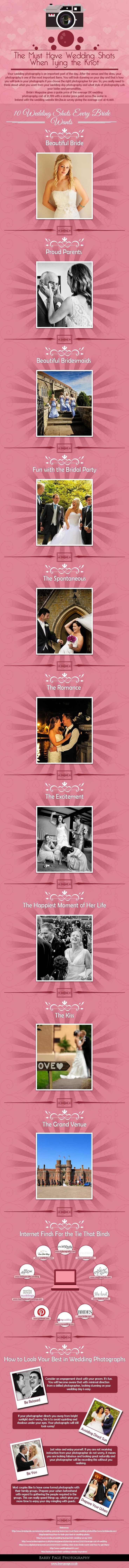 Cheat Sheet: 10 Must-have wedding shots for every bride