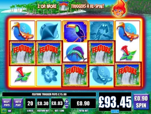 WMS gaming online slot - Blue lagoon 5 scatter!  You can find hundreds of Big Win pictures and more videos here: http://www.bigwinpictures.com