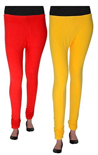 Agrima Fashion Womens Churidar LeggingsCombo Offer Large Red Yellow ** Read more  at the image link. (This is an Amazon affiliate link and I receive a commission for the sales and I receive a commission for the sales)