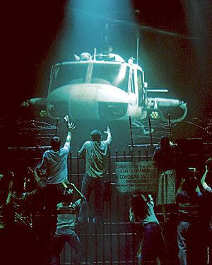 "The helicopter in ""Miss Saigon""... The last production I saw used a video projection instead."