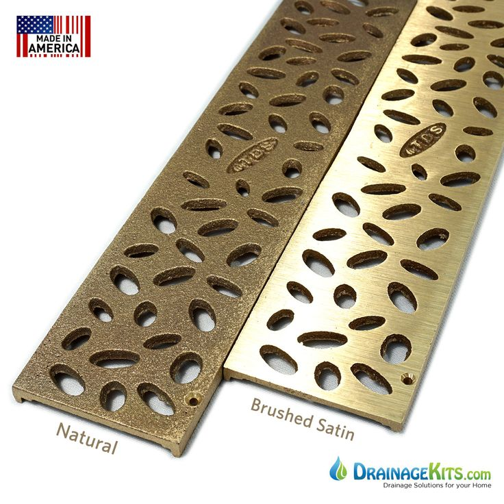 Bronze Grate For NDS Mini Channel Drain System.