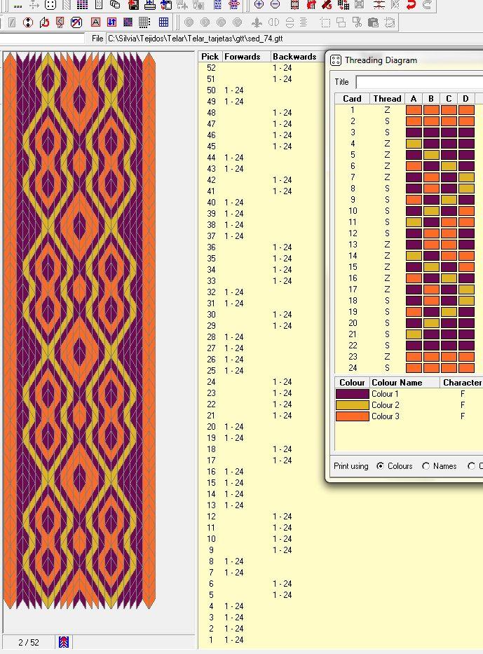 24 tarjetas, 3 colores, secuencia de movimientos 4F-2B-2F-4B // sed_74 ༺❁