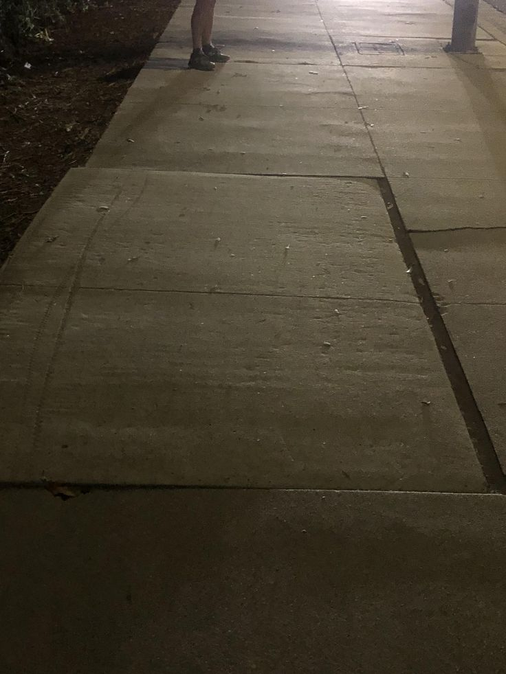 Earthquake tilt? Last Night I came across this section of sidewalk that had shifted entirely intact 1 inch to the left. This is in Los Angeles and the only thing I can think is that it moved in the latest earthquake.