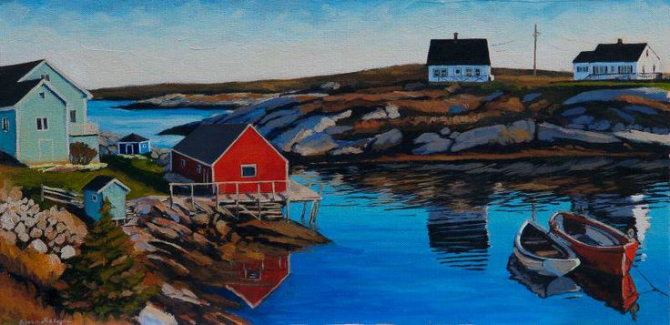 """New day"" 12X24 acrylic available @TeichertGallery #Halifax #PeggysCove #visitnovascotia @art_help @artwalkhalifax"