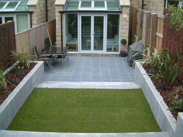 Modern split levelled entertaining area   Olive Garden Design and Landscaping