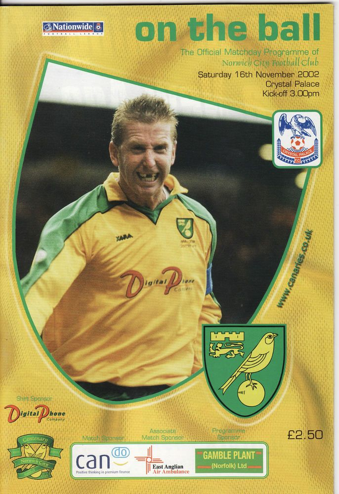 NORWICH CITY v CRYSTAL PALACE. First Division 2002/03