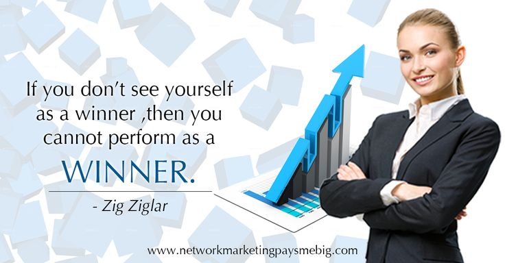 If you don't see #yourself as a #winner , then you cannot perform as a winner. - Zig Ziglar http://www.networkmarketingpaysmebig.com/ #NetworkMarketing
