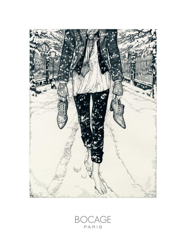 Amazing illustration for Bocage, by Vania Zouravliov.