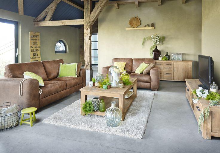 Bankstel dulce door zijn mooie volle vorm en warme uitstraling past dit model perfect in een - Model woonkamer ...