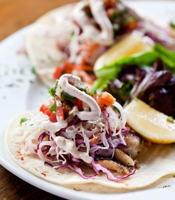Baja Fresh Fish Tacos from Sabrina's Cafe in Philadelphia