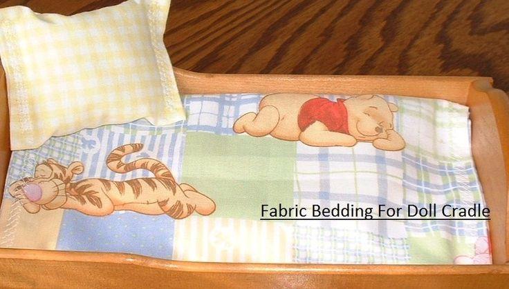 Handmade Bedding Set Fits Strombecker Doll Cradle Bed Winnie Pooh Tigger Roo…