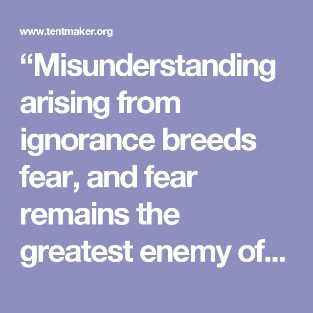 """""""Misunderstanding arising from ignorance breeds fear, and fear remains the greatest enemy of peace."""" Lester B. Pearson"""