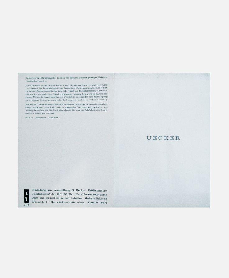 Günther Uecker Geschriebene Bilder 2014   Graphic design   Pinterest ...