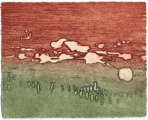 """Jan Montyn, etching """"Sawah"""" (1984)"""