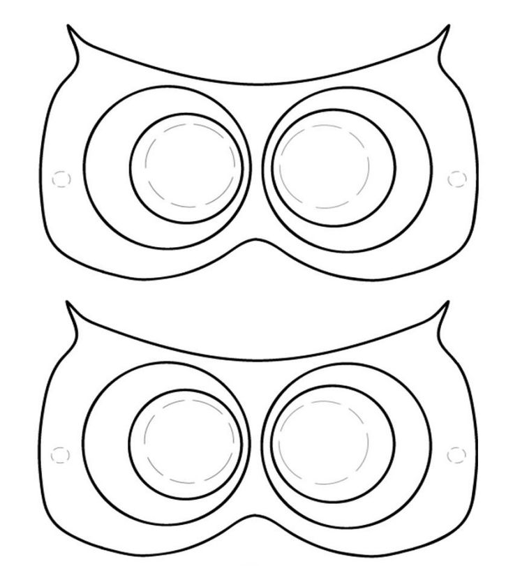44 best masque images on Pinterest Carnivals, Animal masks and - printable mask template