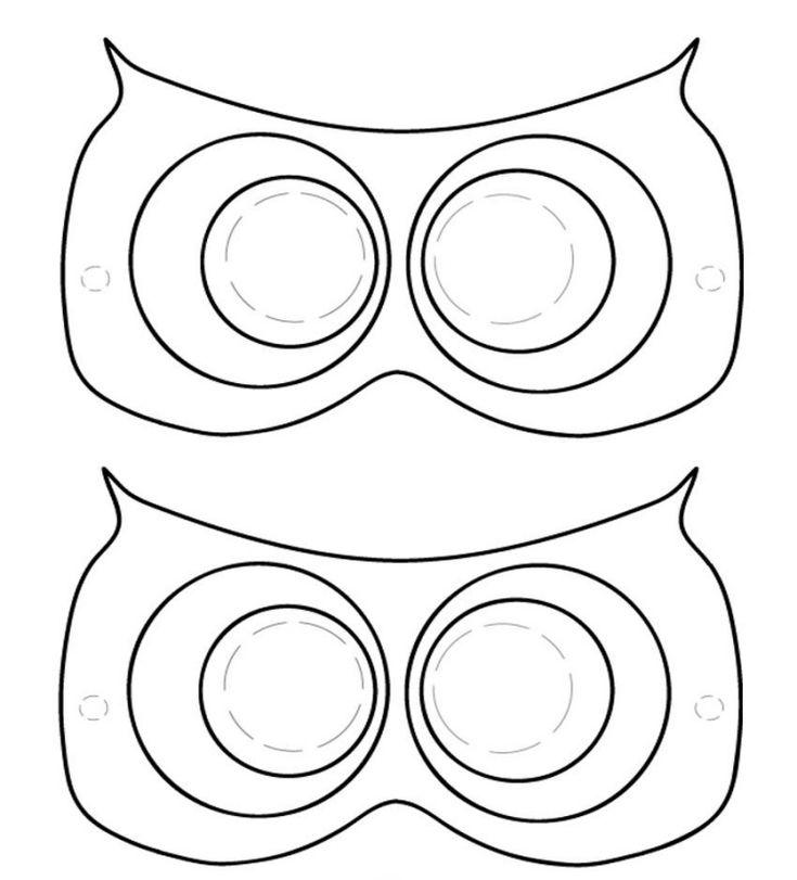 Dessin Hibou: Modèles à Imprimer Et Découper Pour Faire Un Masque
