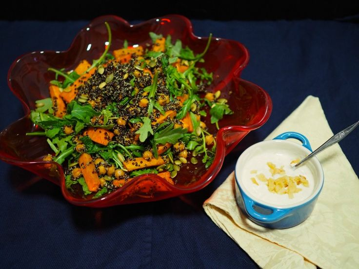 Sweet potato, Quinoa and Chickpea Salad - Champagne and Chips