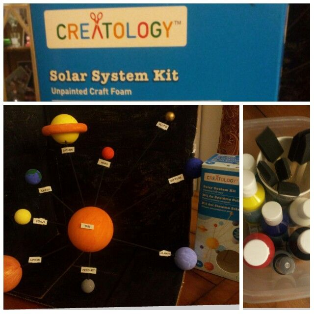 Solar System Project Creatology Kit Unpainted Craft Foam
