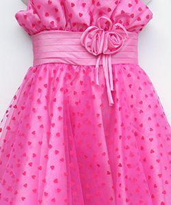 Hot pink party dress #hotpink #girldress #saledress #partydress #satingirldress #sale