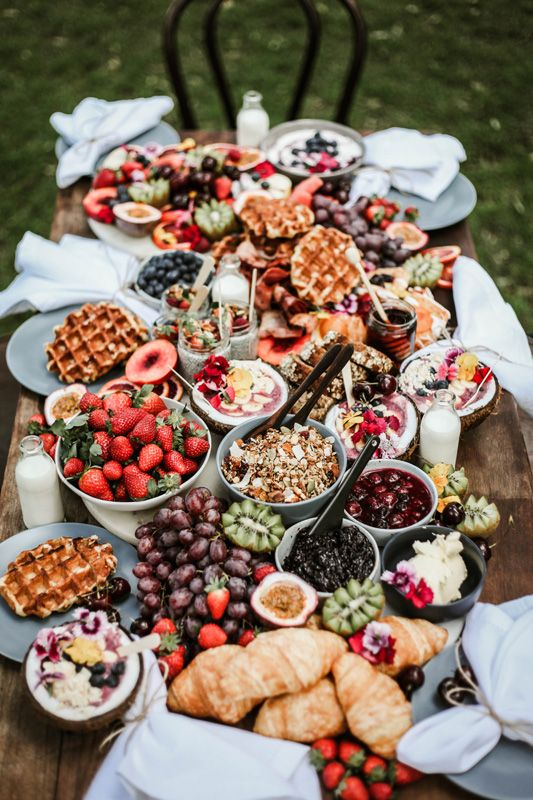 Breakfast/brunch grazing table | Food Bars Buffets ...