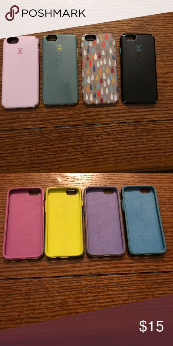 (4) Speck iPhone 6 covers Used but in good condition Speck Accessories