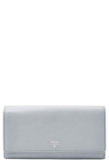 Fossil 'Sydney' Leather Flap Wallet available at #Nordstrom