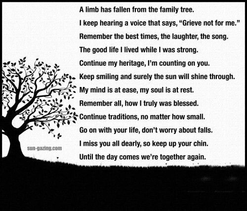 In Memory Of My Mom Quotes Poem About Death