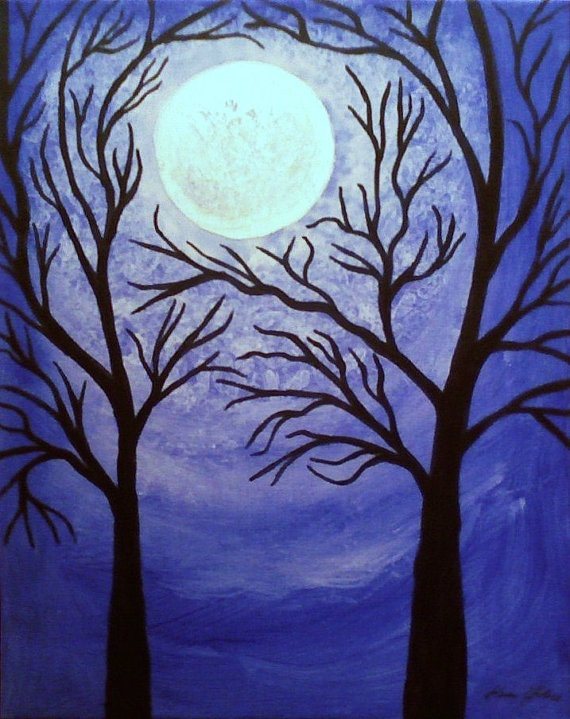 ACEO Blue Moon Giclee Limited Edition Tree by TheVenusCollection, $6.49: Amazing Art, Editing Trees, Art Inspiration, Aceo Blue, Miniatures Art, Blue Moon, Night Trees, Aceo Art, Moon Night