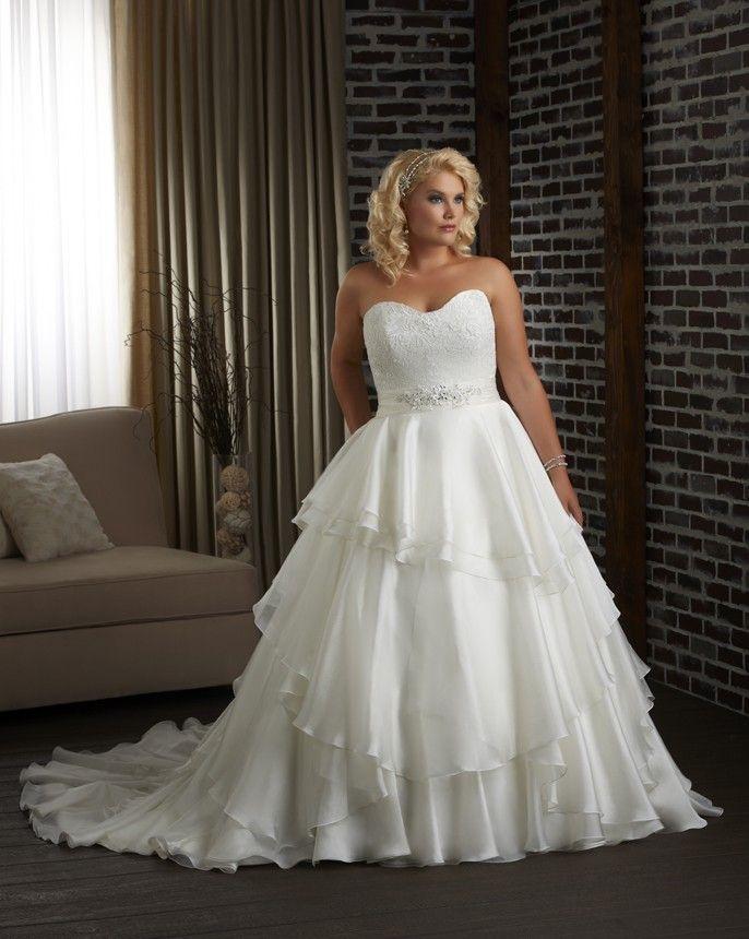 Plus Size White A Line Wedding Dress Pockets