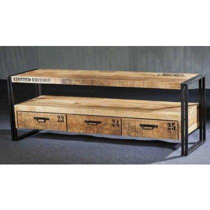 1000 id es sur le th me meubles t l palettes sur for Meuble tv style loft