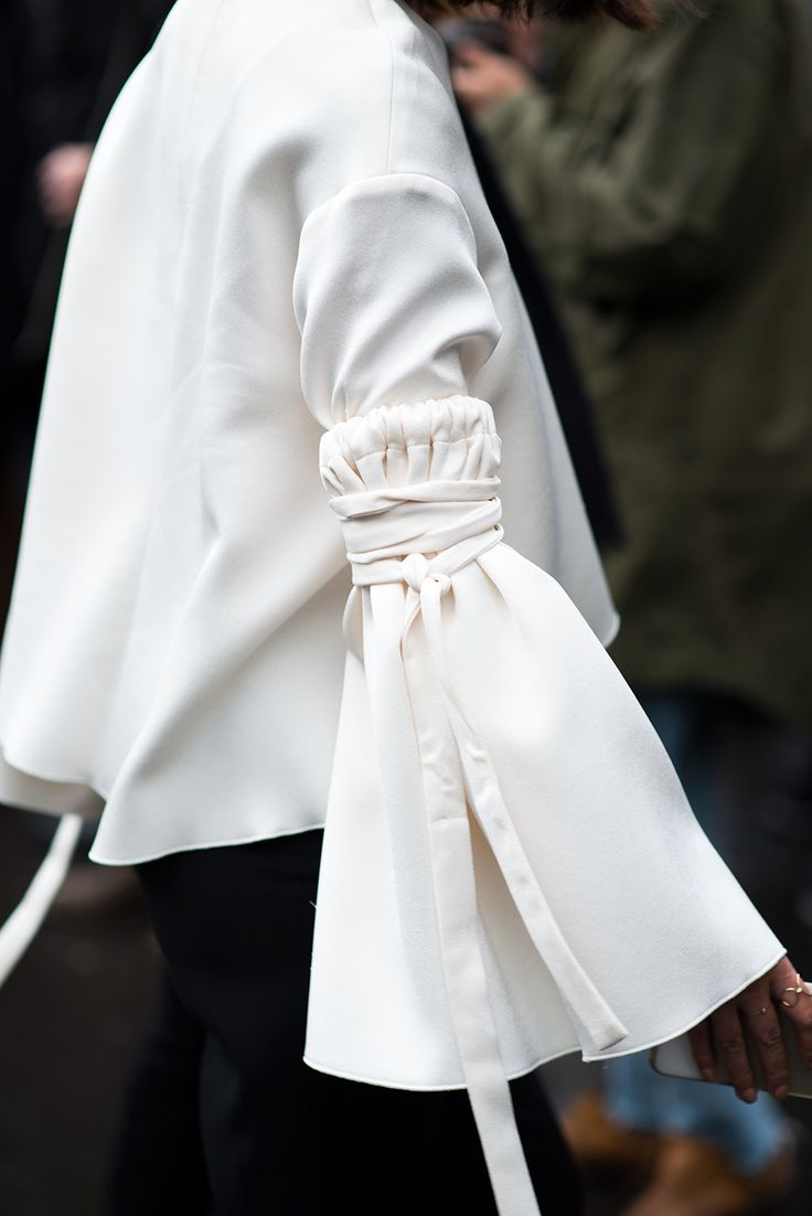 I am all about the increasingly dramatic shift that's happening in the shirt and blouse department. Cascading ruffles are getting longer, deconstructed shirts are taking on more theatrical shapes and sleeves are getting pumped with way more volume. Don't leave the drama at the door, bring on the