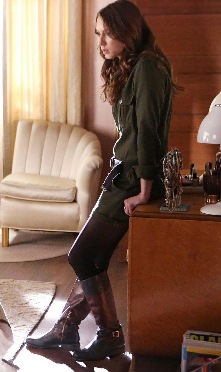 Spencer Hastings wears a Joeu0026#39;s Jeans Military Shirttail Romper on Pretty Little Liars. Shop it ...