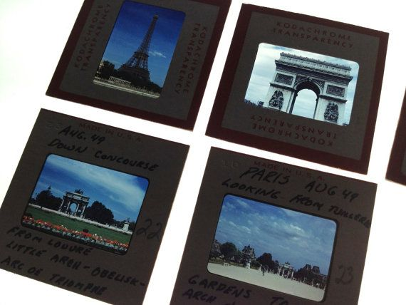 1950's Box of 35mm Slides Across Europe Paris by Jennistampinstuff,