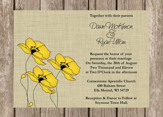 Vintage And Rustic Wedding Invitations