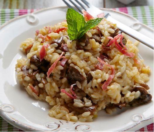 Receta Risotto de Boletus y Jamón Ibérico - Ybarra en tu cocina
