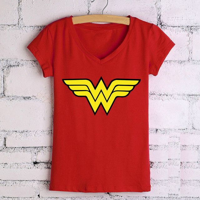 Wanna wear Wonder Woman's Logo? - This is perfect for any Wonder Woman or DC Comics fans! - While Supplies Last! Limit 10 Per Order Please allow 4-6 weeks for shipping Item Type: Tops Material: Cotton
