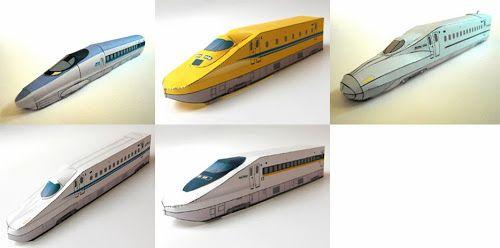 CASITA DE PAPEL: dollhouse paper: Juego de trenes, train set by westjr