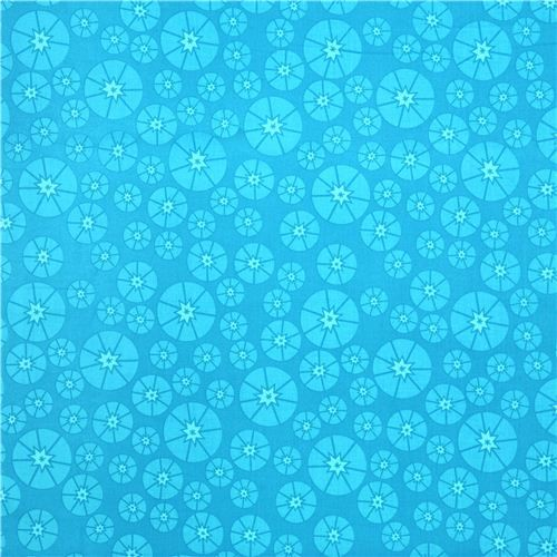 cyan blue Topper table topper circle Cloud 9 organic fabric Sew Yummy 3
