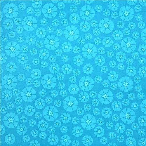 cyan blue Topper table topper circle Cloud 9 organic fabric Sew Yummy 3