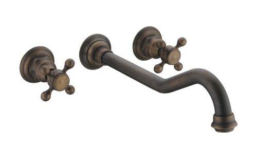 Lavello in ottone antico bagno d'epoca bacino rubinetto maniglie miscelatore calda fredda acqua di rubinetto a parete torneira banheiro lavabo grifos(China (Mainland))