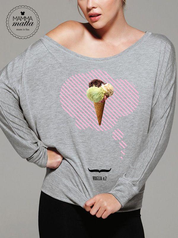 Dolcissime voglie in gravidanza.  Voglia n.2 - Icecream #tshirt #maternity #pregnant #premaman http://www.mammamatta.it/