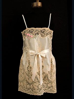 French silk satin/lace chemise, c.1925.