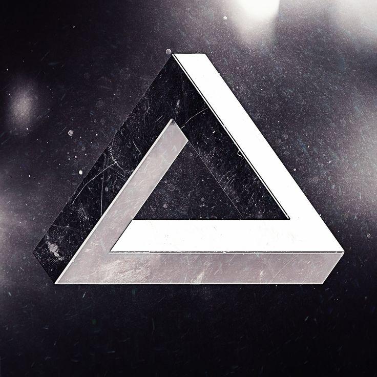 penrose triangle #impossible #penrose #penrosetriangle #triangle #geometry #cgi #3d #3dart #cinema4d #c4d #physical #physicalrenderer #imperfection #instagood #dust #dirt #bw #blackwhite #photoshop #photoshopart #3dartist #metal #surealism #art #artist