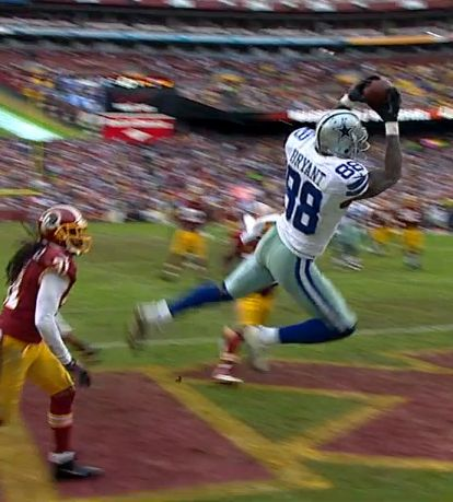 Dez catches a TD pass ... heck yeah!!!