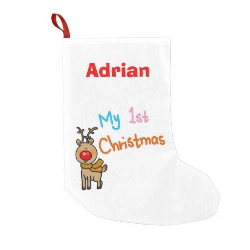 baby's 1st Christmas reindeer - Personalized Christmas Stocking