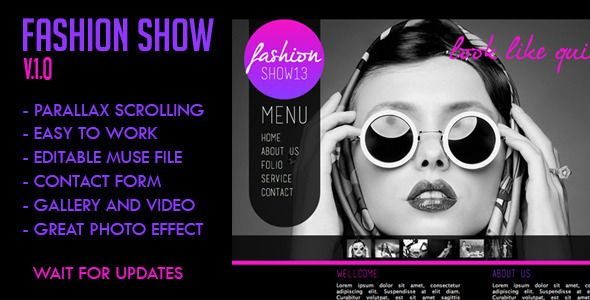 Fashion Show - Creative Muse Templates
