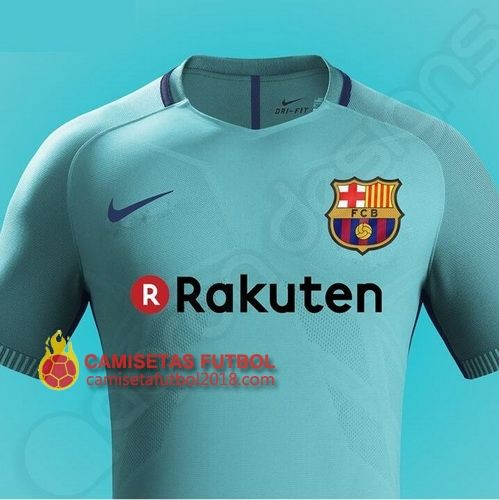 Segunda camiseta Tailandia del Barcelona 2017 2018