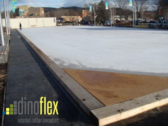 Stuart Park in Kelowna, British Columbia used our Dinomats to surround their outdoor community skating rink. Dinomats are extremely durable and can protect against those harsh skate blades. Visit our website www.dinoflex.com for more info. #StuartPark #Kelowna #BritishColumbia #UniquelyDifferent #Community #SkatingRink